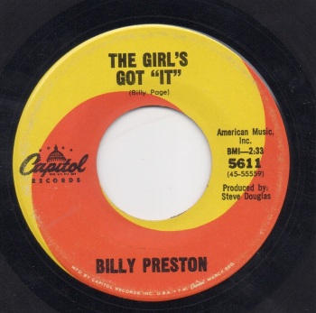 BILLY PRESTON - THE GIRL'S GOT 'IT'