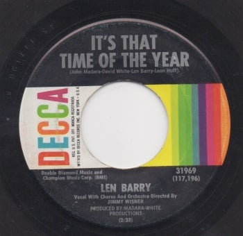 LEN BARRY - IT'S THAT TIME OF THE YEAR