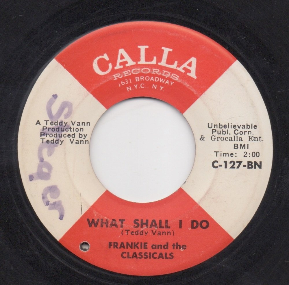 FRANKIE AND THE CLASSICALS - WHAT SHALL I DO