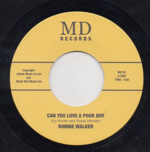 RONNIE WALKER - CAN YOU LOVE A POOR BOY