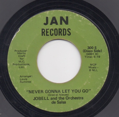 JOBELL & THE ORCHESTRA DE SALSA - NEVER GONNA LET YOU GO (Disco Side)