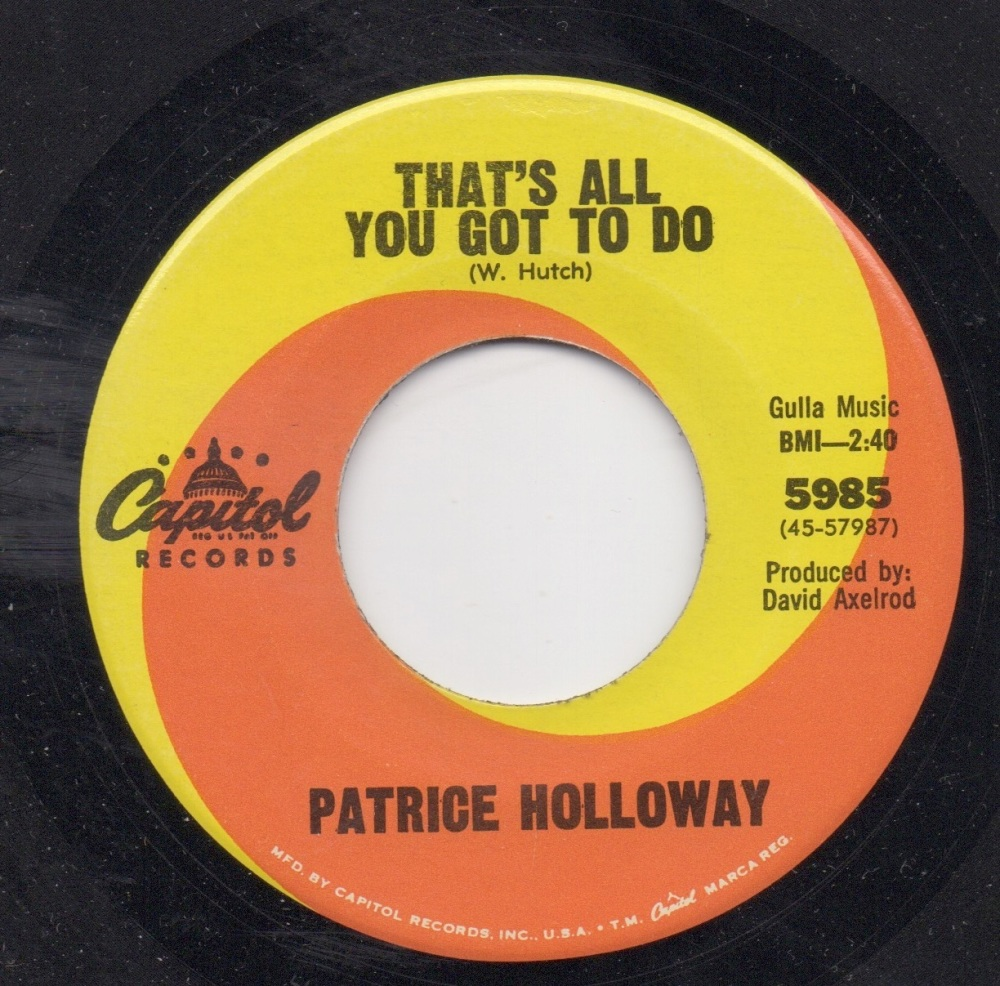 PATRICE HOLLOWAY - THAT'S ALL YOU GOT TO DO