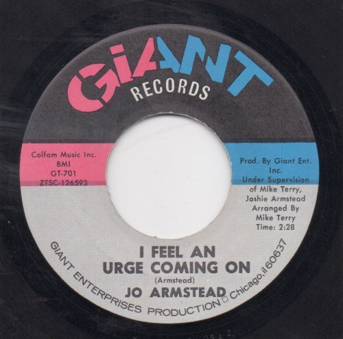 JO ARMSTEAD - I FEEL AN URGE COMING ON