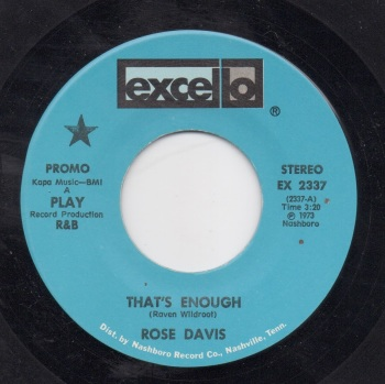 ROSE DAVIS - THAT'S ENOUGH