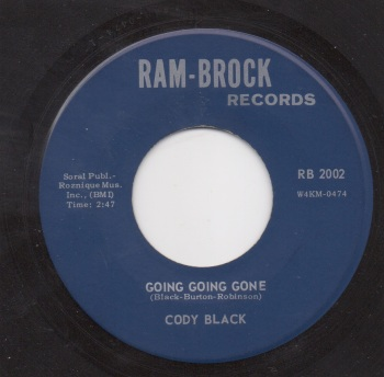 CODY BLACK - GOING, GOING, GONE