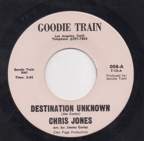 CHRIS JONES - DESTINATION UNKNOWN