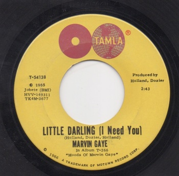 MARVIN GAYE - LITTLE DARLING (I NEED YOU)