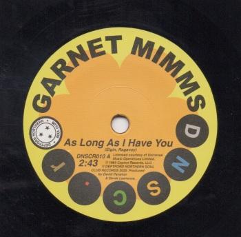 GARNET MIMMS - AS LONG AS I HAVE YOU