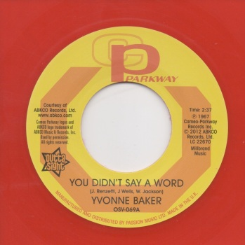 YVONNE BAKER - YOU DIDN'T SAY A WORD