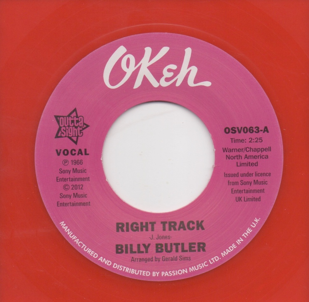BILLY BUTLER - RIGHT TRACK