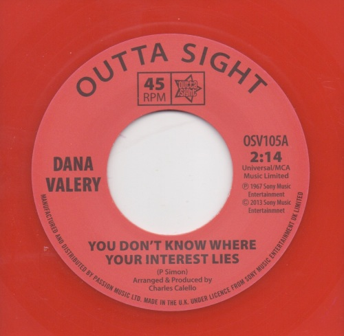 DANA VALERY - YOU DON'T KNOW WHERE YOUR INTEREST LIES