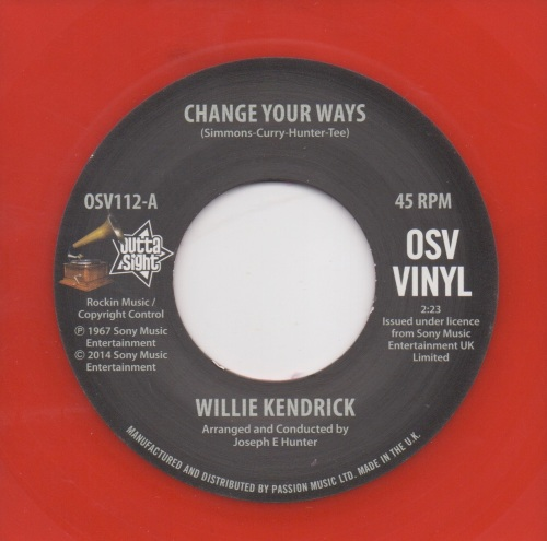 WILLIE KENDRICK - CHANGE YOUR WAYS
