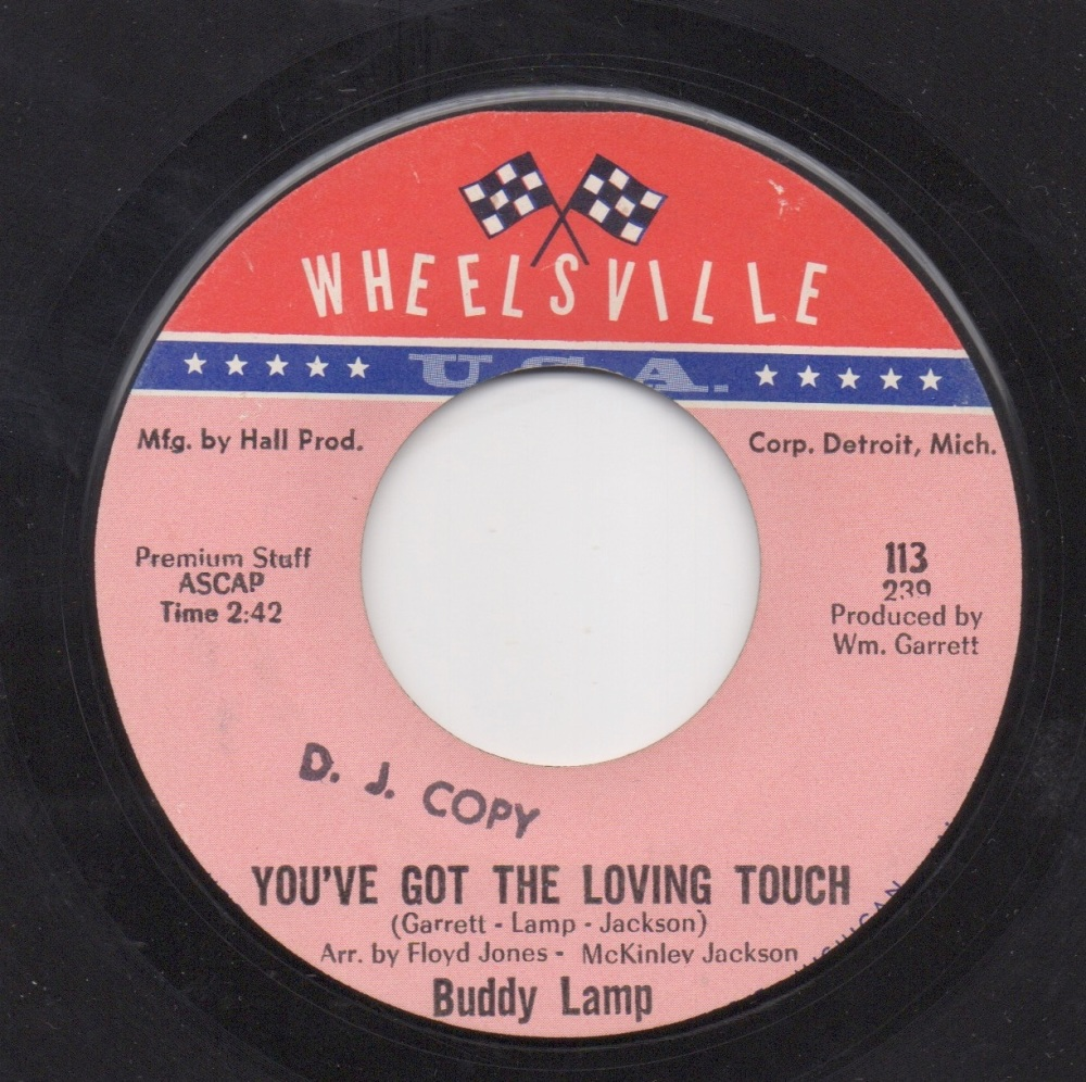 BUDDY LAMP - YOU'VE GOT THE LOVING TOUCH