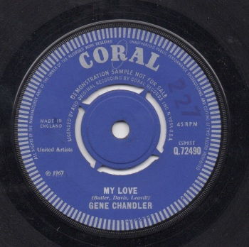 GENE CHANDLER - MY LOVE