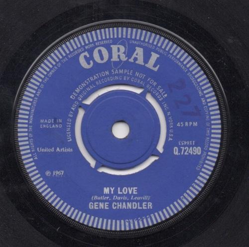GENE CHANDLER - MY LOVE