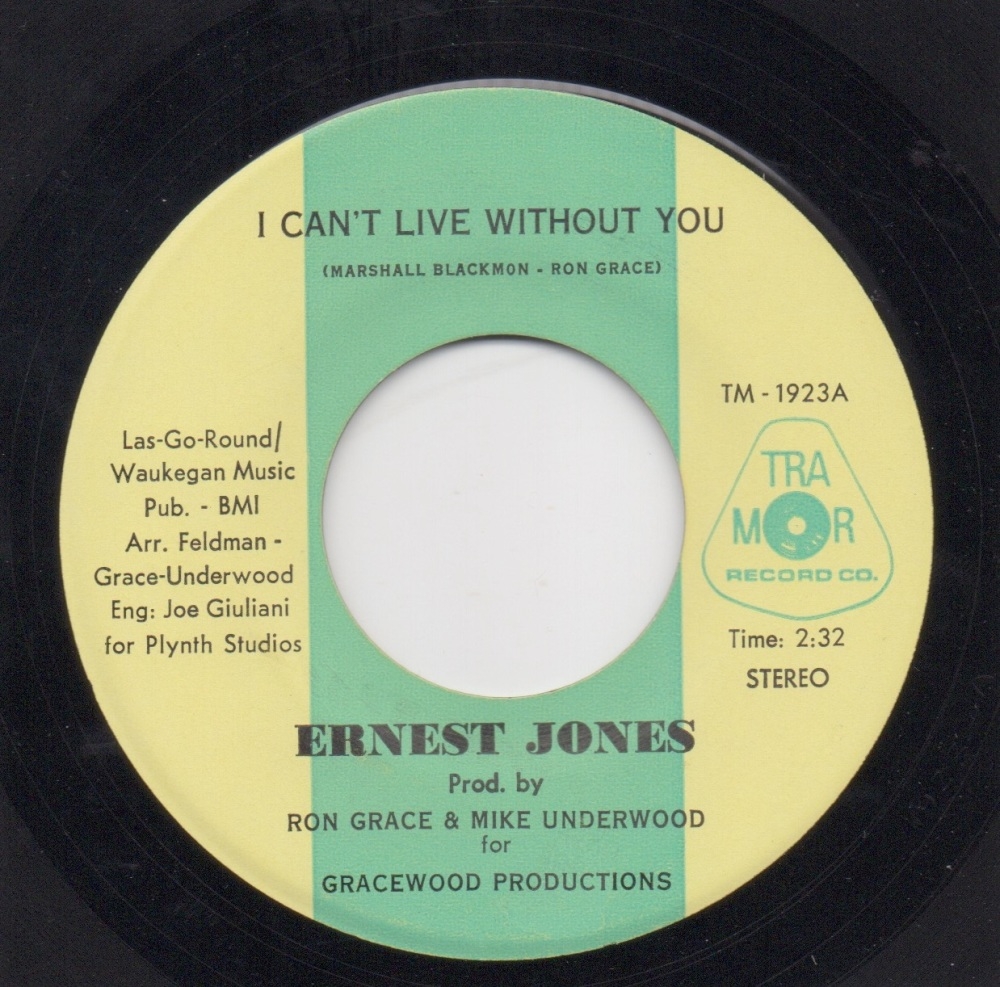 ERNEST JONES - I CAN'T LIVE WITHOUT YOU