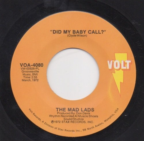 MAD LADS - DID MY BABY CALL?