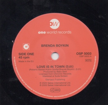 BRENDA BOYKIN - LOVE IS IN TOWN (Edit)