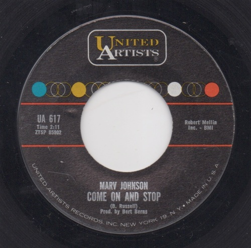 MARV JOHNSON - COME ON AND STOP