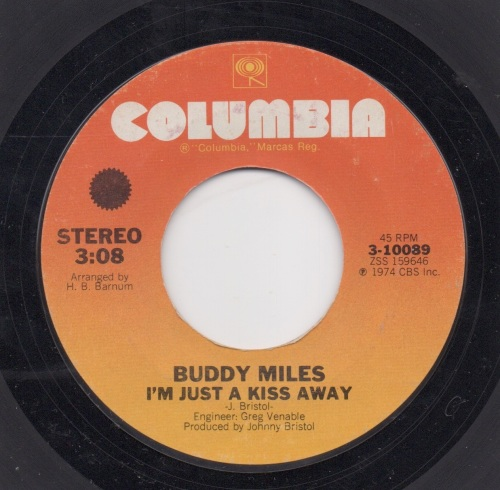 BUDDY MILES - I'M JUST A KISS AWAY