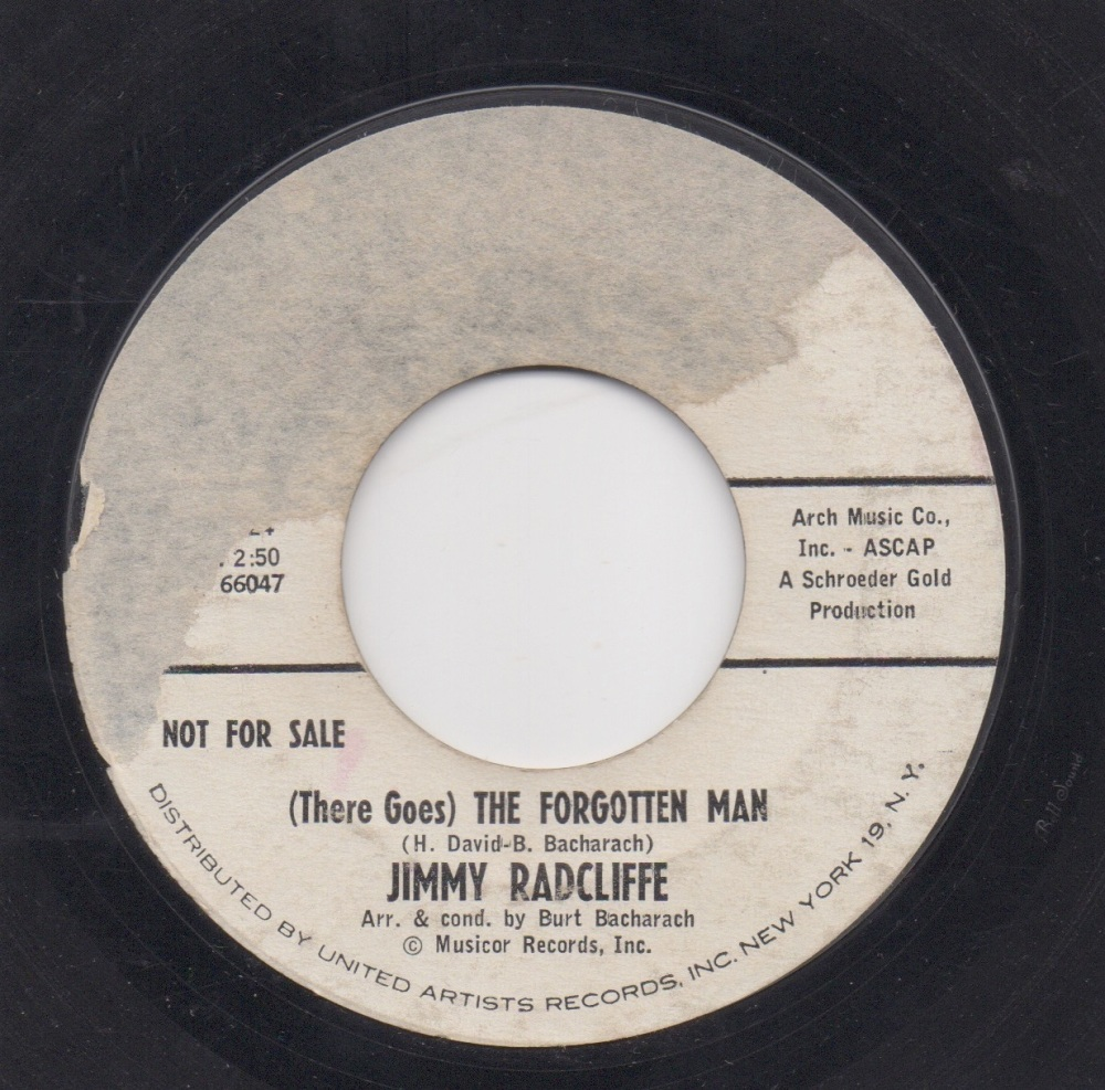 JIMMY RADCLIFFE - (THERE GOES) THE FORGOTTEN MAN