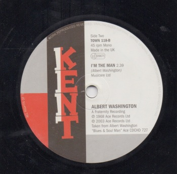 ALBERT WASHINGTON - I'M THE MAN