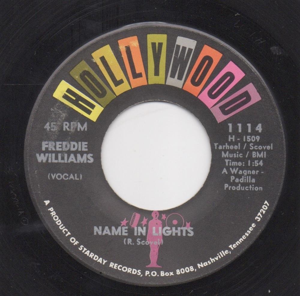 FREDDIE WILLIAMS - NAME IN LIGHTS