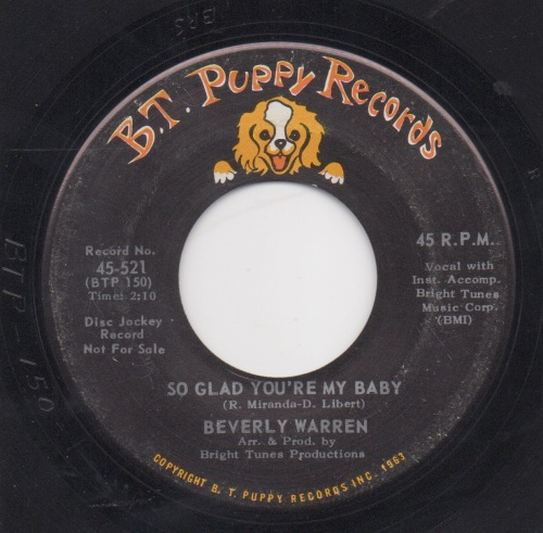 BEVERLY WARREN - SO GLAD YOU'RE MY BABY