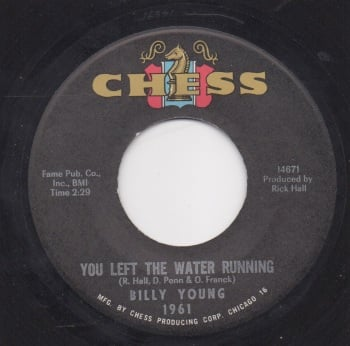 BILLY YOUNG - YOU LEFT THE WATER BURNING