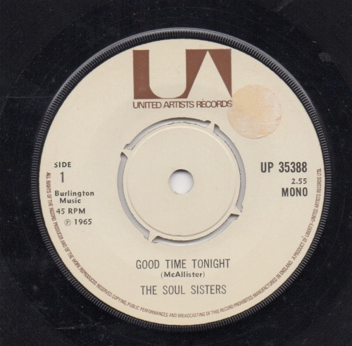 SOUL SISTERS - GOOD TIME TONIGHT