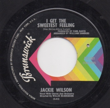 JACKIE WILSON - THE SWEETEST FEELING