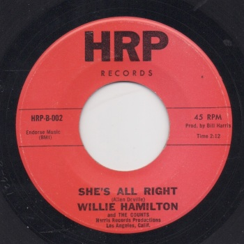 WILLIE HAMILTON - SHE'S ALL RIGHT