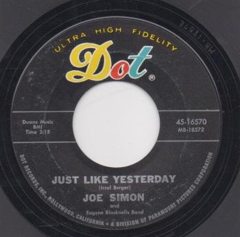 JOE SIMON - JUST LIKE YESTERDAY