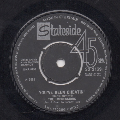 IMPRESSIONS - YOU'VE BEEN CHEATIN'