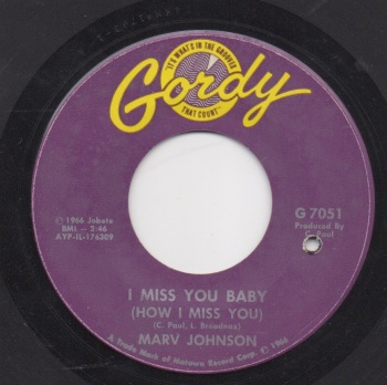 MARV JOHNSON - I MISS YOU BABY (HOW I MISS YOU)