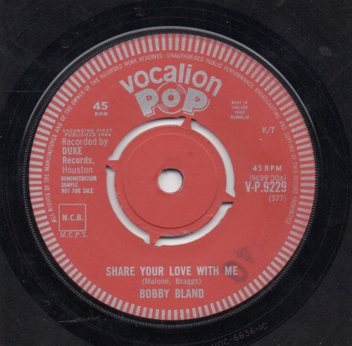 BOBBY BLAND - SHARE YOUR LOVE WITH ME