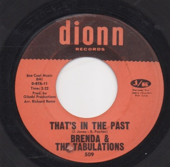 BRENDA & THE TABULATIONS - THAT'S IN THE PAST