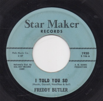 FREDDY BUTLER - I TOLD YOU SO