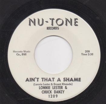 LONNIE LESTER & CHUCK DANZY - AIN'T THAT A SHAME