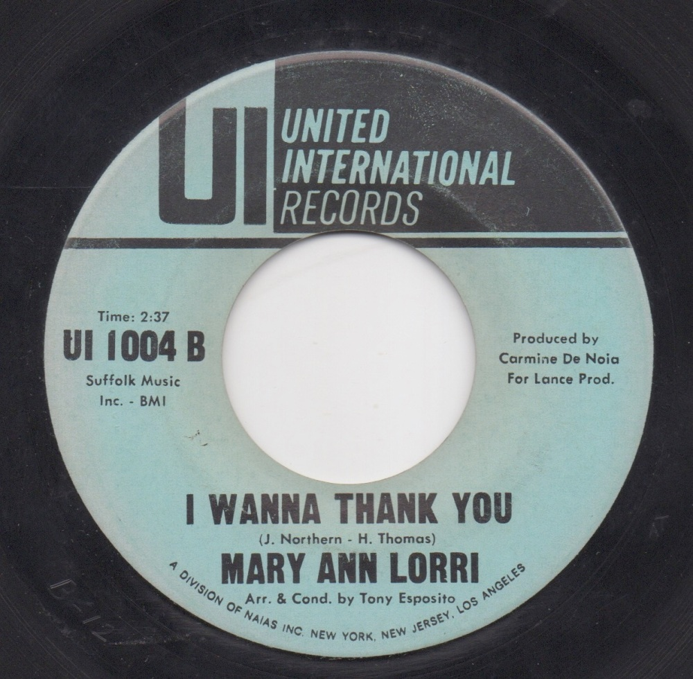 MARY ANN LORRI - I WANNA THANK YOU
