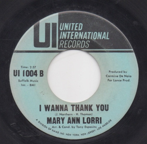 MARY ANN LORRI - I WANNA THANK YOU