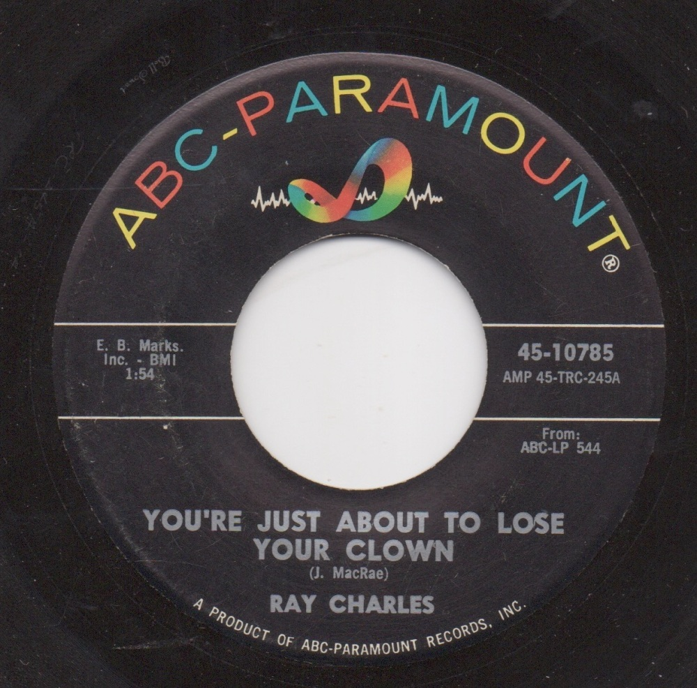 RAY CHARLES - YOU'RE JUST ABOUT TO LOSE YOUR CLOWN