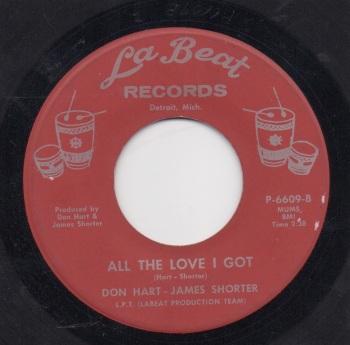DON HART - JAMES SHORTER - ALL THE LOVE I GOT