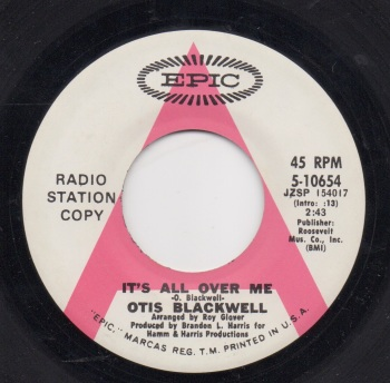 OTIS BLACKWELL - IT'S ALL OVER ME