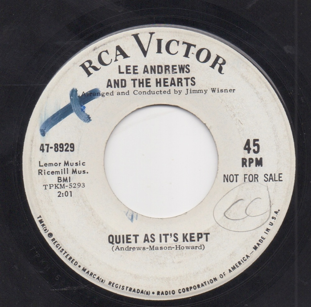 LEE ANDREWS & THE HEARTS - QUIET AS IT'S KEPT