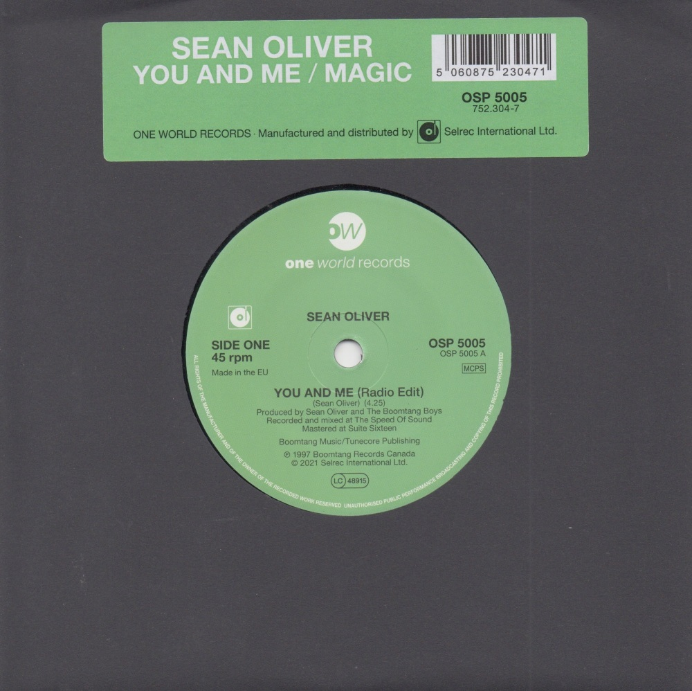SEAN OLIVER - YOU AND ME (Radio Edit)