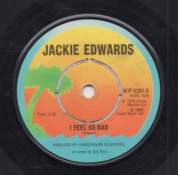 JACKIE EDWARDS - I FEEL SO BAD / COME ON HOME