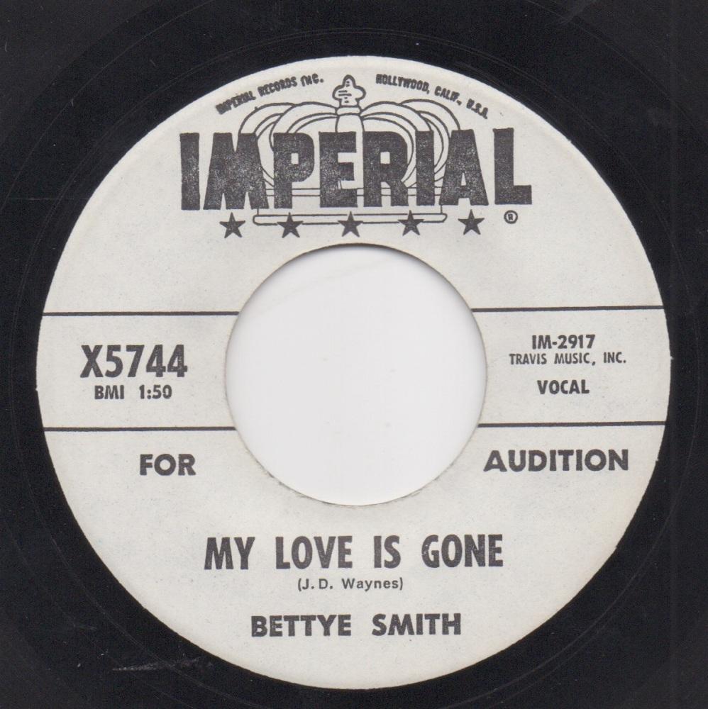 BETTYE SMITH - MY LOVE IS GONE