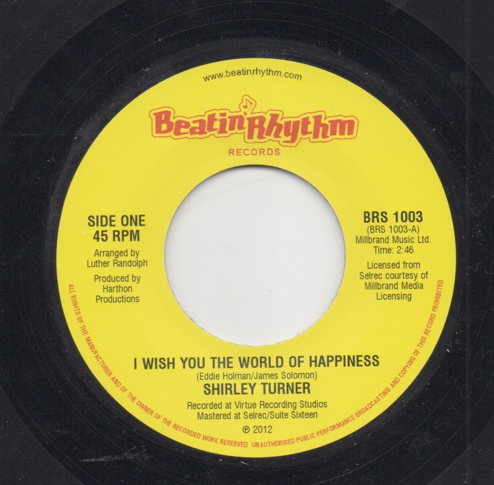 SHIRLEY TURNER / THE PRELUDERS - I WISH YOU THE WORLD OF HAPPINESS / DEEPER