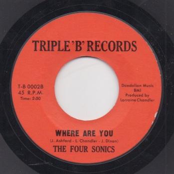 FOUR SONICS - WHERE ARE YOU